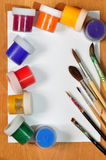 Βούρτσες και χρώμα. Στοκ φωτογραφία με δικαίωμα ελεύθερης χρήσης