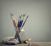 Βούρτσες τέχνης Στοκ εικόνα με δικαίωμα ελεύθερης χρήσης