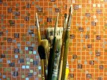 Βούρτσες τέχνης Στοκ Φωτογραφία