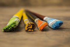 Βούρτσες χρωμάτων τέχνης Στοκ εικόνες με δικαίωμα ελεύθερης χρήσης