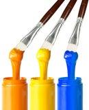 Βούρτσες χρωμάτων Στοκ εικόνες με δικαίωμα ελεύθερης χρήσης