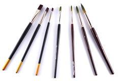 Βούρτσες χρωμάτων Watercolor Στοκ φωτογραφίες με δικαίωμα ελεύθερης χρήσης