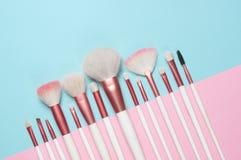 Βούρτσες MakeUp καθορισμένες Στοκ εικόνες με δικαίωμα ελεύθερης χρήσης