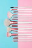 Βούρτσες MakeUp καθορισμένες Στοκ Εικόνες