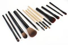 Βούρτσες Makeup που τίθενται για τον επαγγελματία Στοκ Εικόνες