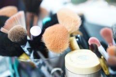 Βούρτσες Makeup στοκ φωτογραφίες με δικαίωμα ελεύθερης χρήσης