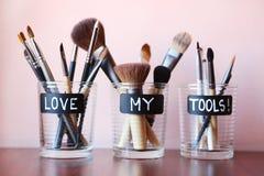 Βούρτσες Makeup Στοκ εικόνες με δικαίωμα ελεύθερης χρήσης