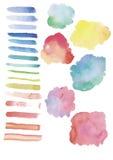 Βούρτσες Watercolor Στοκ εικόνα με δικαίωμα ελεύθερης χρήσης