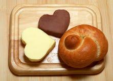 βούτυρο ψωμιού Στοκ φωτογραφίες με δικαίωμα ελεύθερης χρήσης