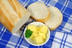 βούτυρο 2 ψωμιού Στοκ Εικόνα