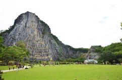 Βούδας αποκαλούμενο βουνό Khao Cheejan ή Khao Chee Chan Στοκ Εικόνες