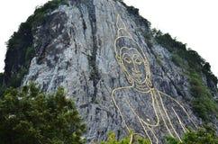 Βούδας αποκαλούμενο βουνό Khao Cheejan ή Khao Chee Chan Στοκ Εικόνα