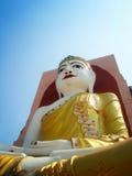 1 4 Βούδας η κατεύθυνσή του 4 δείχνει στο ναό του Μιανμάρ Στοκ Εικόνες