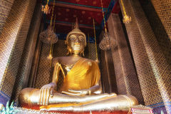 Βούδας σε Wat Kalayanamit, Μπανγκόκ, Ταϊλάνδη Στοκ Φωτογραφία