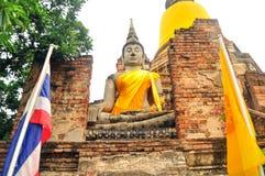 Βούδας σε Wat Yai Chai Mongkhon Στοκ Φωτογραφία