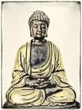 Βούδας στη βαθιά περισυλλογή στοκ εικόνες