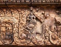 Βούδας στο ναό Banteay Srei Στοκ φωτογραφία με δικαίωμα ελεύθερης χρήσης
