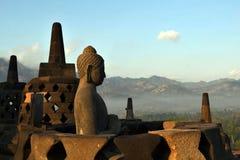 Βούδας στο ναό borobudur Στοκ φωτογραφία με δικαίωμα ελεύθερης χρήσης