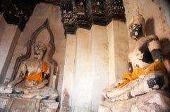Βούδας στο ναό Wat Chaiwatthanaram, ιστορικό πάρκο Ayutthaya, Στοκ φωτογραφία με δικαίωμα ελεύθερης χρήσης