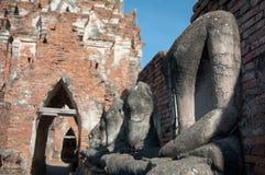 Βούδας στο ναό Wat Chaiwatthanaram, ιστορικό πάρκο Ayutthaya, Στοκ Φωτογραφίες