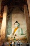 Βούδας στο ναό Wat Nang Pluem, ιστορικό πάρκο Ayutthaya, ταϊλανδικά Στοκ εικόνα με δικαίωμα ελεύθερης χρήσης