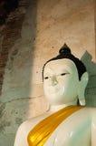 Βούδας στο ναό Wat Nang Pluem, ιστορικό πάρκο Ayutthaya, ταϊλανδικά Στοκ Εικόνα