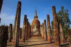 Βούδας στο sukhothai ΤΑΪΛΑΝΔΟΣ srisatchanalai Στοκ Εικόνα