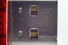 Βούλωμα USB και μακρο επαφές Στοκ φωτογραφία με δικαίωμα ελεύθερης χρήσης