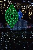 Βολβοί Χριστουγέννων LIT Στοκ Φωτογραφία