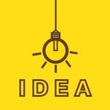 Βολβός με την έννοια ιδέας Στοκ φωτογραφίες με δικαίωμα ελεύθερης χρήσης
