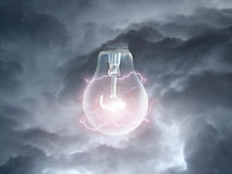 Βολβός στα σύννεφα στοκ φωτογραφίες με δικαίωμα ελεύθερης χρήσης