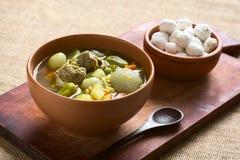 Βολιβιανή Soup Chairo de Tunta Στοκ εικόνα με δικαίωμα ελεύθερης χρήσης