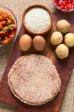 Βολιβιανό κρέας Silpancho Στοκ φωτογραφία με δικαίωμα ελεύθερης χρήσης