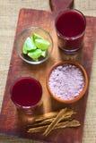 Βολιβιανό πορφυρό ποτό καλαμποκιού αποκαλούμενο API Στοκ Εικόνες
