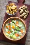 Βολιβιανό Sopa de Mani (σούπα φυστικιών) Στοκ εικόνα με δικαίωμα ελεύθερης χρήσης