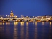 Βράδυ Άγιος-Πετρούπολη, Ρωσία Στοκ εικόνα με δικαίωμα ελεύθερης χρήσης