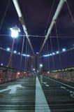 Βράδυ γεφυρών του Μπρούκλιν Στοκ εικόνες με δικαίωμα ελεύθερης χρήσης