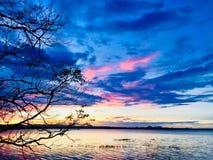 Βράδυ και μπλε ουρανός στοκ εικόνες