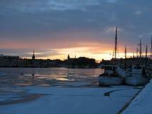 βράδυ Στοκχόλμη Στοκ Εικόνες