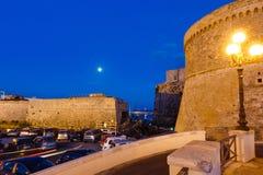 Βράδυ Gallipoli Castle, Πούλια, Ιταλία Στοκ Φωτογραφίες