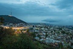 Βράδυ Tbilisi Στοκ φωτογραφία με δικαίωμα ελεύθερης χρήσης