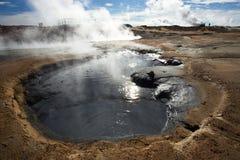 Βράζοντας λάσπη στη γεωθερμική περιοχή Namafjall, Hverir Στοκ εικόνα με δικαίωμα ελεύθερης χρήσης