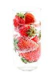 βράζοντας ύδωρ φραουλών Στοκ φωτογραφία με δικαίωμα ελεύθερης χρήσης