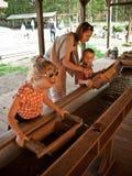 Βράση για το χρυσό, πάρκο δεινοσαύρων, Leba Πολωνία στοκ εικόνες