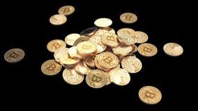 Βράση γύρω της πτώσης Bitcoins απεικόνιση αποθεμάτων