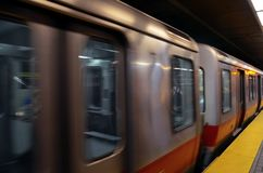 Βράση ενός υπόγειου τρένου στη Νέα Υόρκη στοκ φωτογραφία με δικαίωμα ελεύθερης χρήσης
