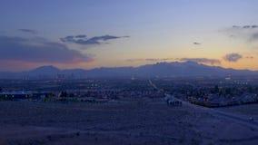 Βράση ηλιοβασιλέματος βουνών απόθεμα βίντεο