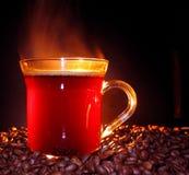 βράσιμο στον ατμό καφέ στοκ εικόνα