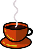 Βράσιμο στον ατμό του καυτού φλιτζανιού του καφέ Στοκ Φωτογραφίες