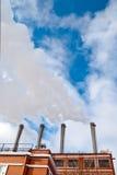 Εγκαταστάσεις θερμότητας και παραγωγής ενέργειας Στοκ εικόνα με δικαίωμα ελεύθερης χρήσης